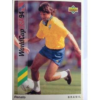 Renato (Brazil) - Soccer Football Card #35 - 1993 Upper Deck World Cup USA '94 Preview Contenders
