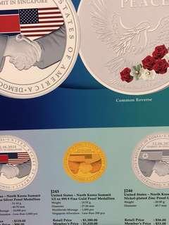 US-North Korea summit commemorative medallions