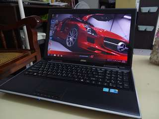 Msi 15.6inch/i5/win7/4Gb/500Gb hdd/Gaming/English language laptop