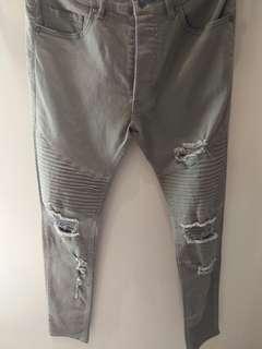 Celana jeans h&m baru (biker + ripped jeans)