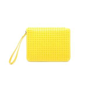 Christian Louboutin   Women's Yellow Cris Studded Leather Ipad Case