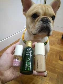 Body cleanser, Moisture foundation, nail polish set