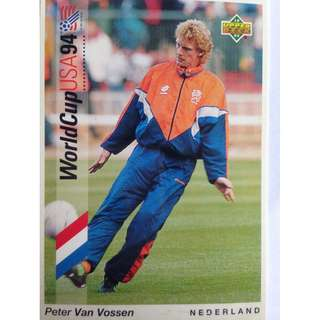 Peter Van Vossen (Netherlands) - Soccer Football Card #31 - 1993 Upper Deck World Cup USA '94 Preview Contenders
