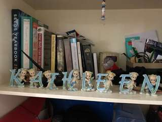 Kathleen Letter Figurines
