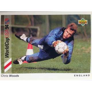 Chris Woods (England) - Soccer Football Card #25 - 1993 Upper Deck World Cup USA '94 Preview Contenders