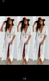 Women Summer Beach Boho Party Long Maxi Dress (Ships in 5-10days)