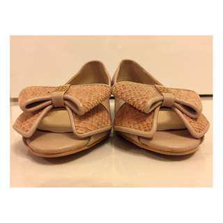 SPUR shoes peep toe size 250 (Korean) / EUR38-39 in beige/nude