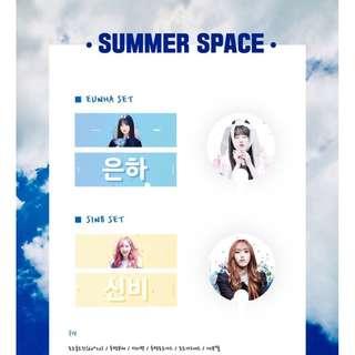 EUNHA & SINB - SUMMER SPACE Slogan set