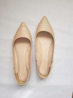 So fab beige pointed flats
