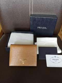 Prada 1MV204 Ladies Wallet in Caramel