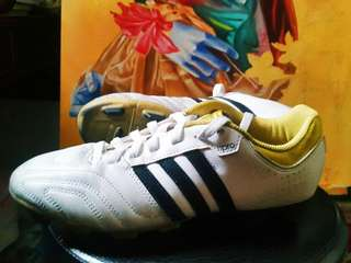 Adidas: 11Questra FG Football Boots (White/Black/Gold)