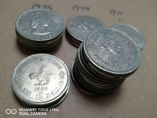 香港大餅一元1960-1970- 1971-1974-1975 24個 10@1