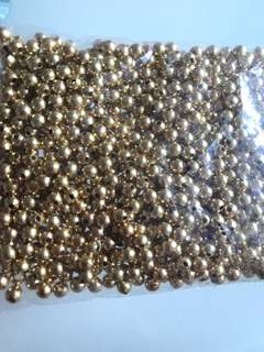 BN gold-plated beads 4mm