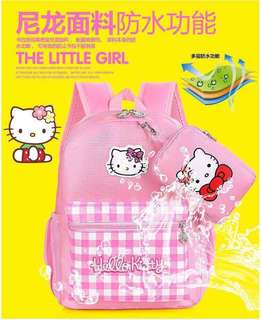 Hello kitty bagpack with wallet