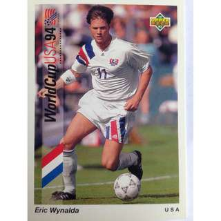 Eric Wynalda (USA) - Soccer Football Card #22 - 1993 Upper Deck World Cup USA '94 Preview Contenders