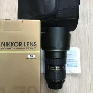 Nikon 24-70mm f2.8 G (公)