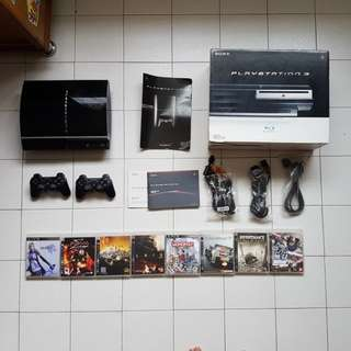Preloved Sony PlayStation 3 with 2 Controllers and Games