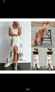 Boho Women Fashion Long Floral Printed (Ships in 7-10days)