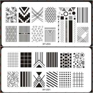1 Pcs New Brand DIY Nail Art Stamp Plate Stamping Plates Steel Nails Image Plates Flower/Lace/Graphic/geometric Manicure Template