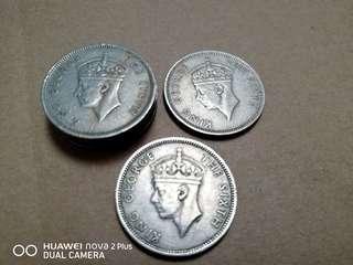 67年歷史的錢幣1951 喬治六世   半世紀前香港五毫子⑥個20@1