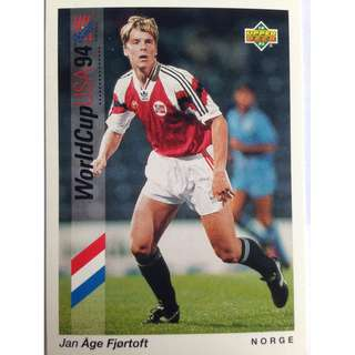 Jan Age Fjortoft (Norway) - Soccer Football Card #21 - 1993 Upper Deck World Cup USA '94 Preview Contenders
