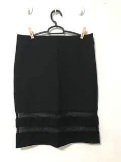 H&M Black Bandage Skirt