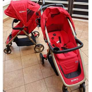 BRANDED SCR 11 stroller to let go