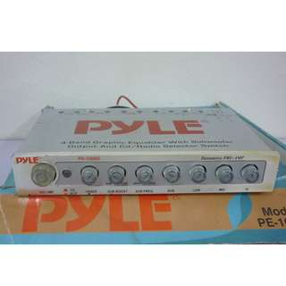 PYLE  PE-1000S 4BAND GRAPHIC EQUALIZER WITH SUBWOOFER OUTPUT