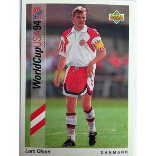 Lars Olsen (Denmark) - Soccer Football Card #20 - 1993 Upper Deck World Cup USA '94 Preview Contenders