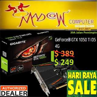 "Gigabyte GTX 1050 Ti D5 4G GeForce®.., "" Offer Sales..,Hurry Grab it by Tonite....while Stock Last..""."