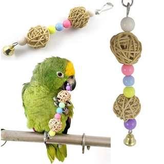 Hot multicolor beads bird toys pets parrot toys bird ladder Parakeet swing drill rainbow parakeet ladder hamster toys