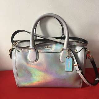 ORIGINAL! Coach Hologram Mini Bennett Satchel