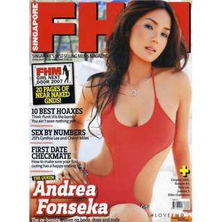FHM Singapore - April 2007 - Andrea Fonseka