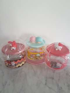 Sanrio Characters 3D Glass Container Collection Set