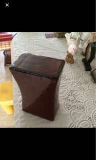 Chinese old leather pillow