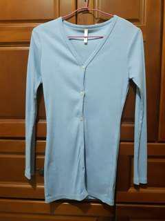 🚚 淺藍防曬外套 罩衫  #十月女裝半價