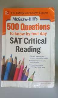 McGraw-Hill's 500 Questions SAT Critical Reading