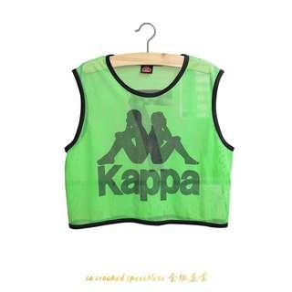 🚚 Kappa運動洞洞背心/古著/lucky-7/螢光綠