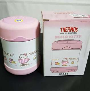 Genuine Thermos Hello Kitty FUNTAINER Stainless Steel Food Jar - 10oz