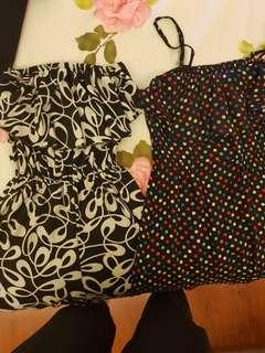 Bangkok  Find Summer Dress (PhP 250 for 2) - Black & White Printed Jumpsuit + Polkadot Dress