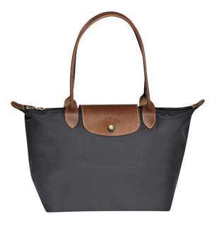 全新有單真Longchamp long champ Tote Bag S 長柄 細袋 女士手袋 上班 灰色易襯