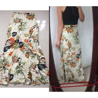 Beach or Casual Printed Long Skirt