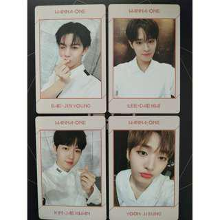 [LOOSE Ready Stock] Wanna One UNDIVIDED Art Book Version Album Photocard