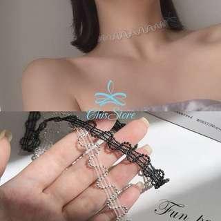 🚚 Chis Store【銀珠三線譜頸鍊】波浪 韓國項鍊 短項鍊 項鏈 鎖骨鏈 頸圈 頸鏈 脖環 頸項鍊 NDX206