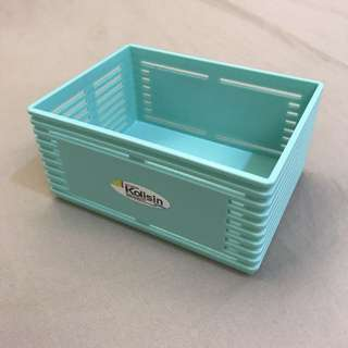 🚚 粉嫩收納盒-藍  居家收納好幫手/九五成新