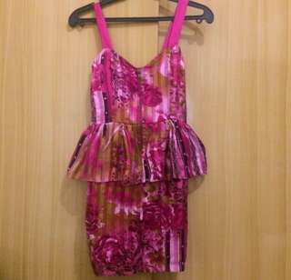 casual by pink floral dress