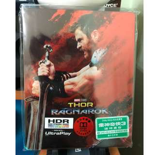 Marvel Thor Ragnarok 4K UHD + 2D Blu-ray 鐵盒珍藏版 (雷神 3 儲神黃昏 藍光) 港版中字