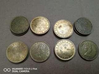 1975年香港一毫子 ten cents 1975 共14個 10@1