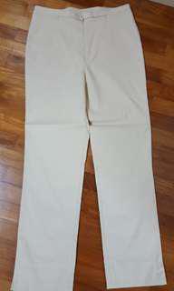 Beige long pants
