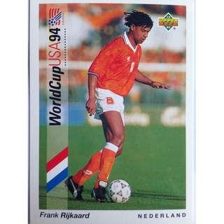 Frank Rijkaard (Netherlands) - Soccer Football Card #18 - 1993 Upper Deck World Cup USA '94 Preview Contenders